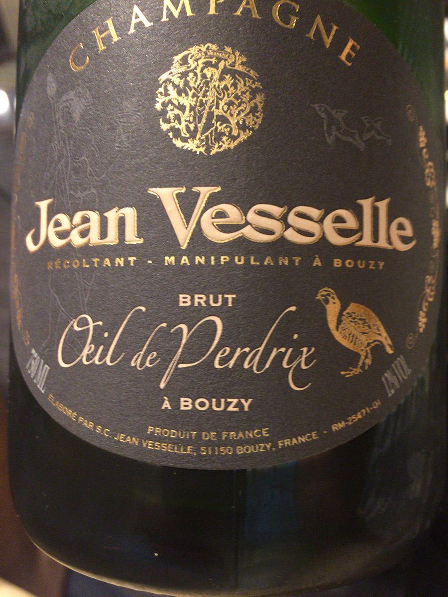 シャンパーニュレビュー Jean Vesselle Oeil de Perdrix Brut