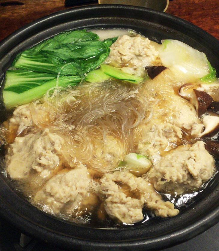 鶏団子の中華風鍋