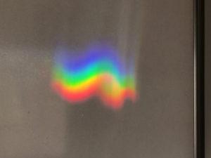 虹模様。レインボーフラッグとは上下が違う。