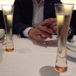 この日のグラスシャンパンはClaude Cazals Carte Or Blanc de Blancs。メニルシュールオジェのレコルタン・マニピュラン。