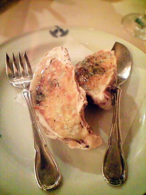 牡蠣のコキーユ。