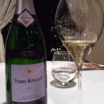 コースを通じてシャンパンで。Pierre Moncuit Grand Cru Blanc de Blancs Brut Non Dosé Millésimé 2005