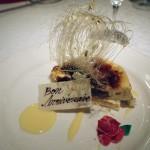 誕生日だったので、ケーキは特別にシブースト。酸味と甘味のバランスがよく、軽く食べられた。