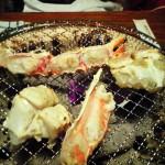 炭火焼。じっくり焼くもよし、表面の色が変わった程度で食べるもよし。