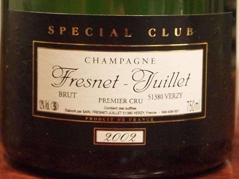Fresnet-Juillet Special Club 2002 シャンパーニュレビュー