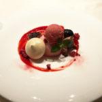 木苺のデクリネゾン。déclinaisonとは一つの食材を異なる複数の料理法にしたもの。