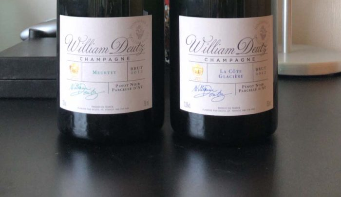 シャンパーニュレビュー Hommage À WIlliam Deutz 2012 Merutet & La Côte Glacière