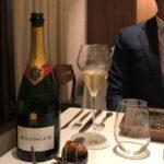 フレンチに行くとコース中は基本シャンパーニュで通す我々。今回はBollinger Special Cuvéeを選択。